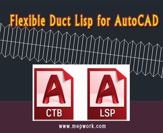 Download Flexible Duct Lisp for AutoCAD - Flex Duct lsp