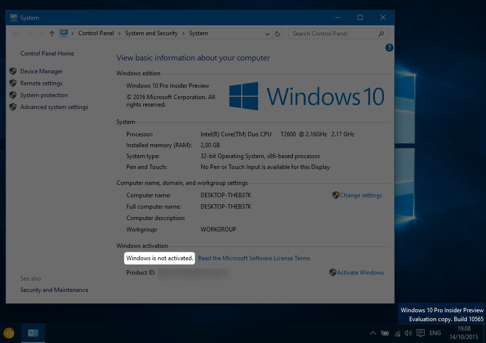 Activate windows 10 threshold 2 hyrokumata the windows 10 rtm was set as build number 10240 after some months of work the windows 10 november update the first major update and codenamed threshold ccuart Choice Image