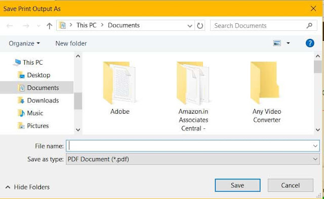 save your document