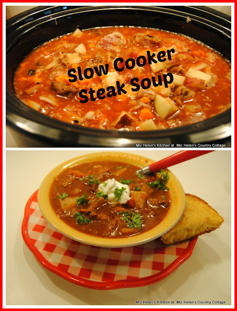 Slow Cooker Steak Soup at Miz Helen's Country Cottage