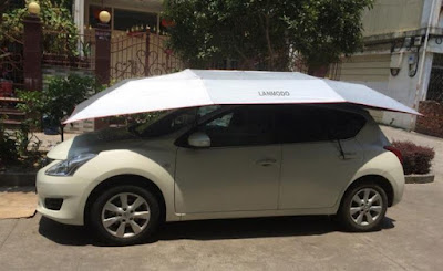 Lanmodo Automatic Umbrella Protect Your Car From Sun Or Weather