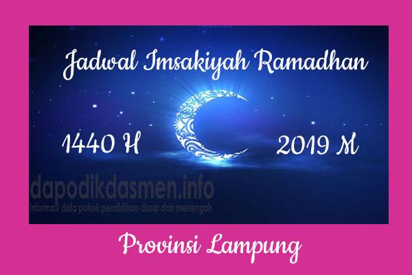 Jadwal Imsakiyah Ramadhan Provinsi Lampung