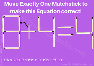 Answer of Matchstick Kids Puzzle