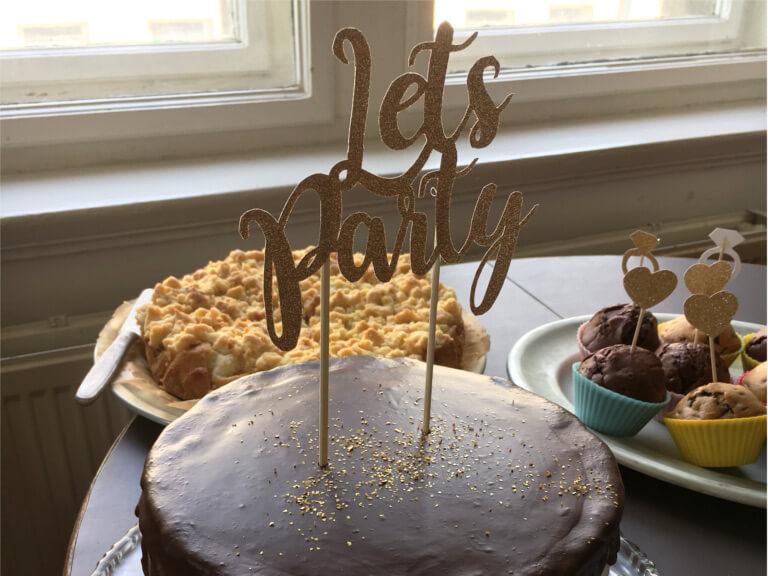 DIY Cake Topper aus glitzer als Hochzeitsdekoration, für die Hochzeit oder den JGA