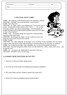sports reading comprehension my english printable worksheets. Black Bedroom Furniture Sets. Home Design Ideas