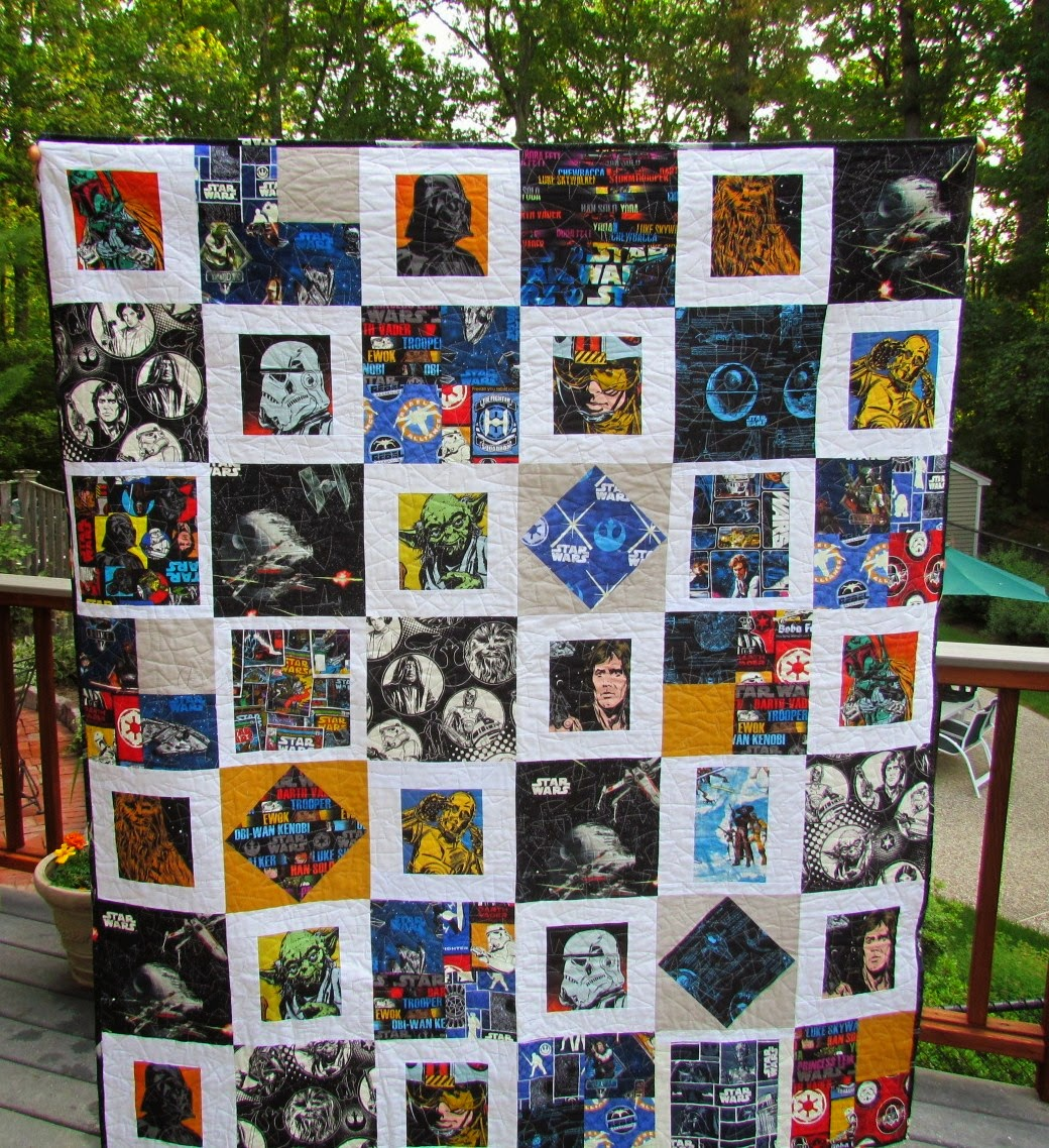 Kayakquilting Finished The Glowing Star Wars Quilt