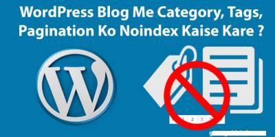 WordPress Blog Me Category, Tags and Pagination Noindex Kaise Kare