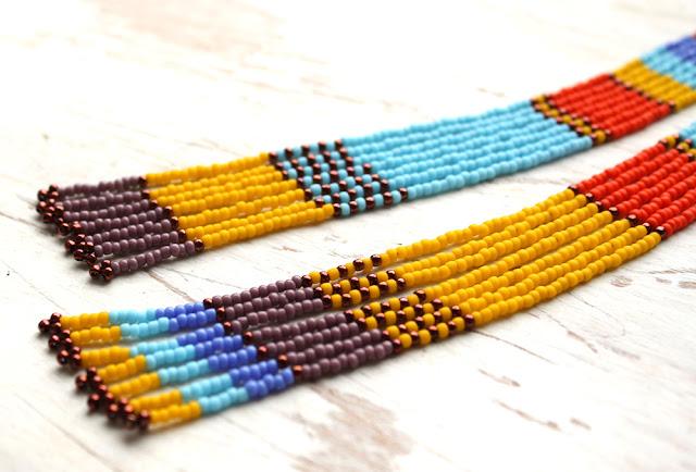 купить длинные серьги до плеч оригинальные разноцветные серьги африканские