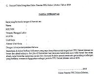 Format Pakta Integritas Calon Peserta PPGJ Tahun 2018 Word