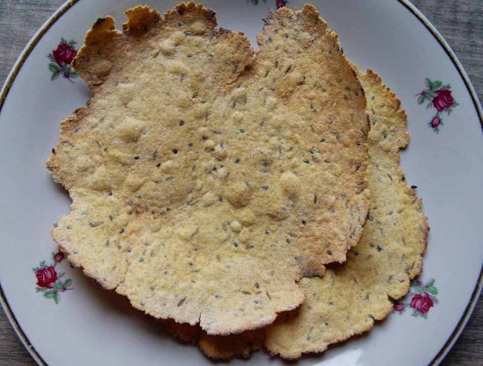 Pappadums, czipsy indyjskie z piekarnika