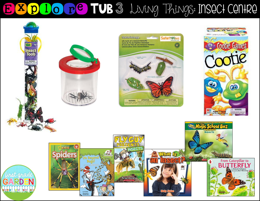 first grade garden explore tubs for living things with freebies. Black Bedroom Furniture Sets. Home Design Ideas
