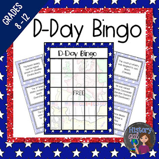 Free D Day Bingo from History Gal