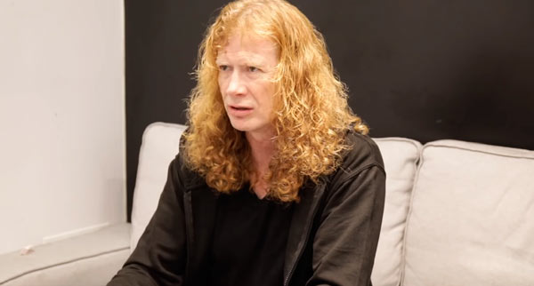Dave Mustaine y una posible reunión de los Big Four?...