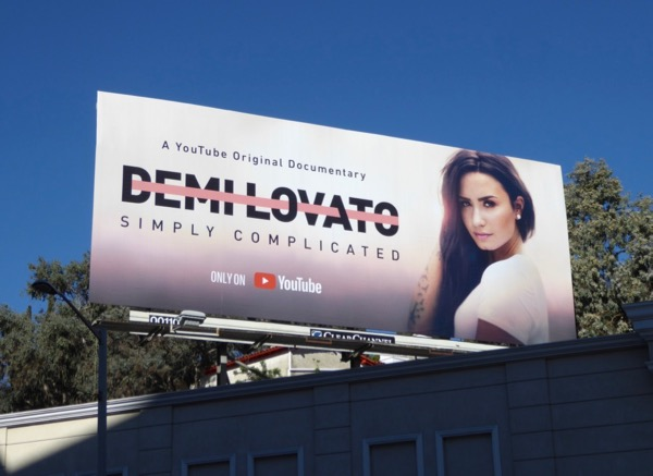 Demi Lovato Simply Complicated YouTube billboard