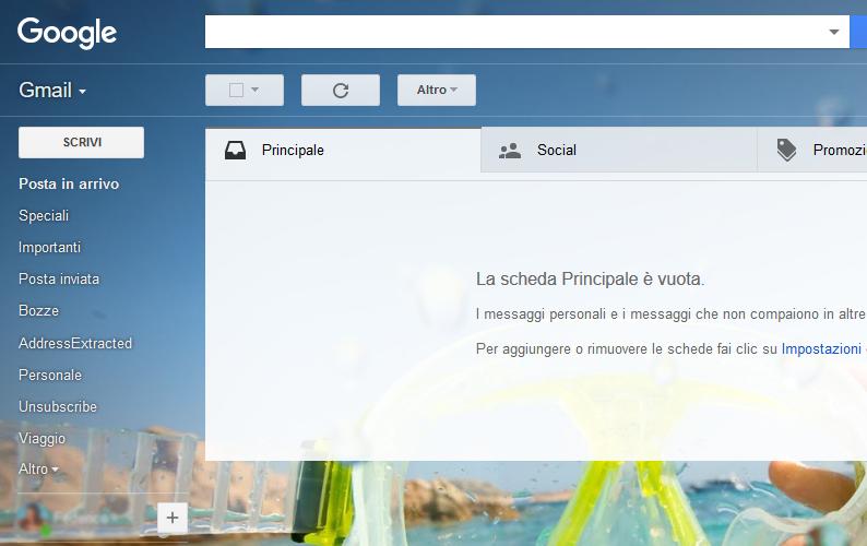 foto personale come sfondo gmail
