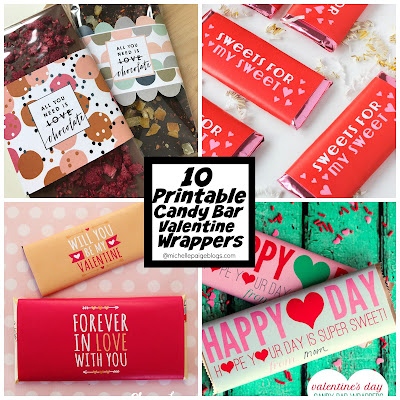 10 Free Candy Bar Wrappers for Valentine's Day @michellepaigeblogs.com