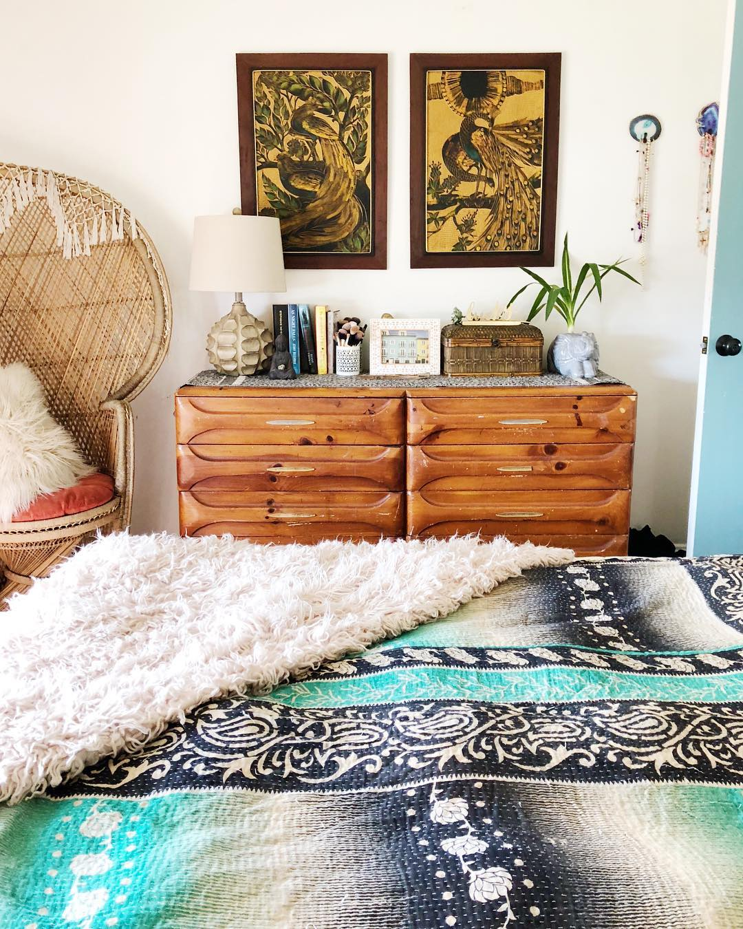 How To Decorate Above Bedroom Dresser With Art And Color