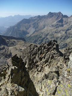 Vistas en el descenso del Serrato
