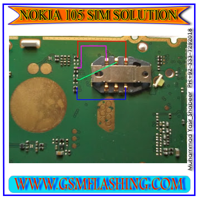 Nokia 105 Insert Sim Problem Solved By IC Jumper | gsmfixer