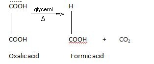 Formic acid preparation from oxalic acid.