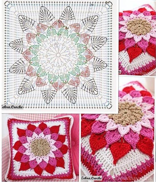 Esquema Punto Estrella Crochet - Galería De Diseño Para El Hogar ...