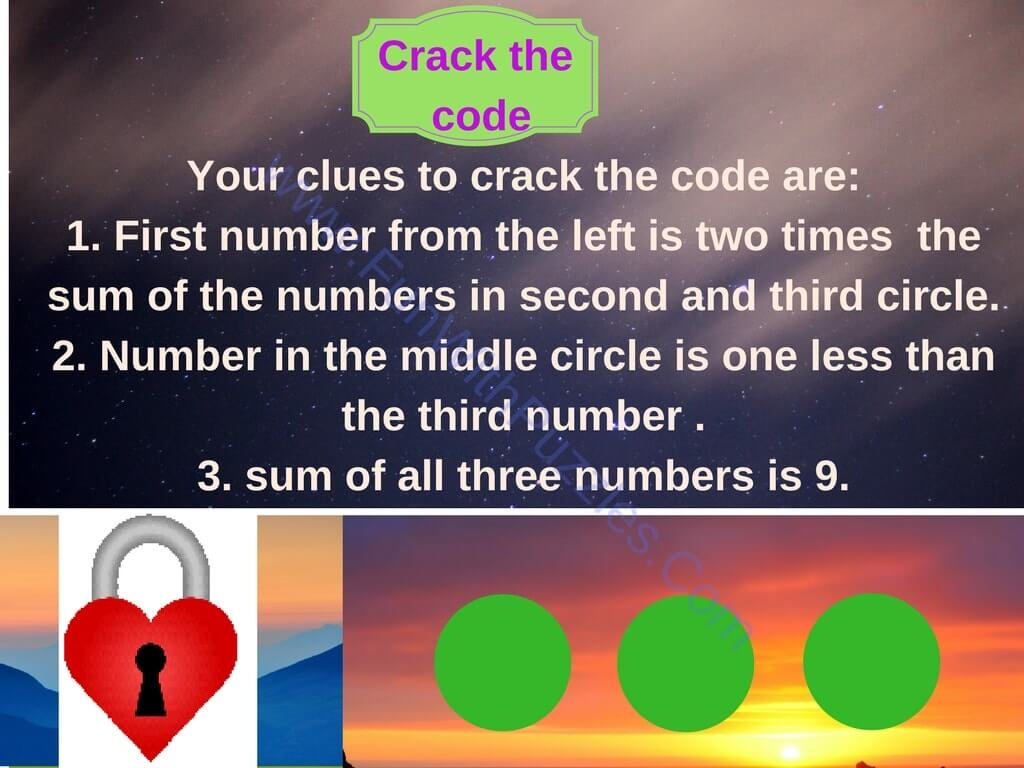 Mathematical Crack The Code Puzzles For Kids With Answers