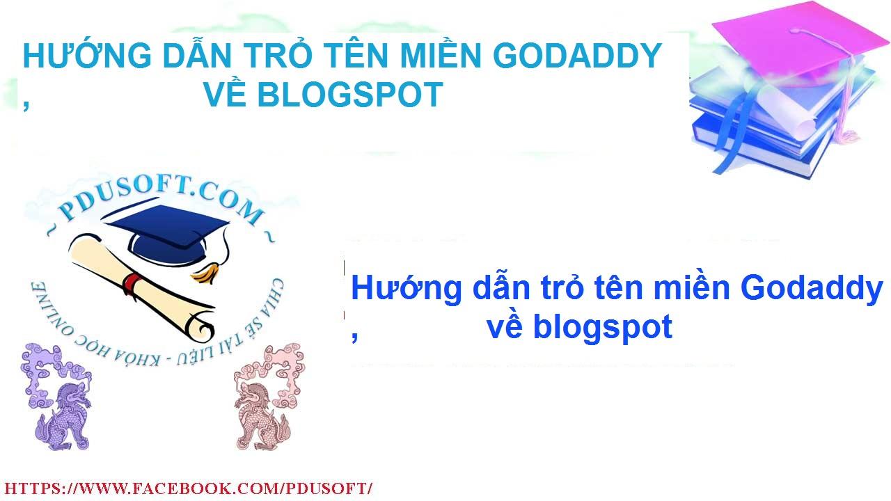 Hướng dẫn trỏ tên miền về blogspot
