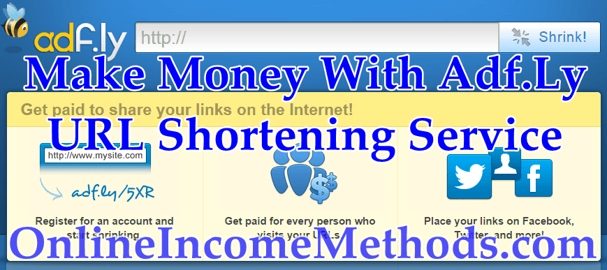 Make Money With Adf.Ly Link Shortener Service
