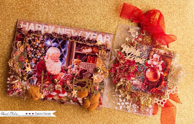 Новогоднее настроение, открытки, тэг и стаканчик ;)