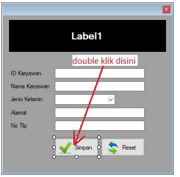 8 - Part5 Menciptakan Aplikasi Hotel Dengan Vb.Net + Database Mysql – Form Input Karyawan