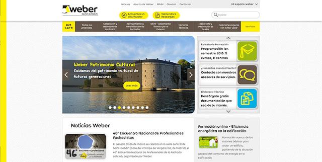 Weber página web