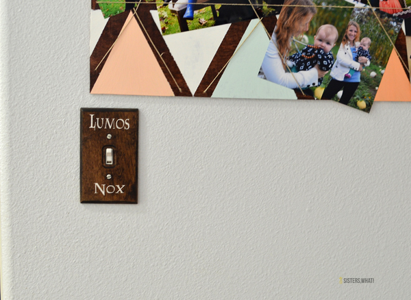 a DIY Harry Potter lumos and nox light switch, So COOL!!