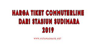 Harga Tiket Commuterline Dari Stasiun Sudimara Terbaru 2019