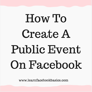 How to create a public event on Facebook