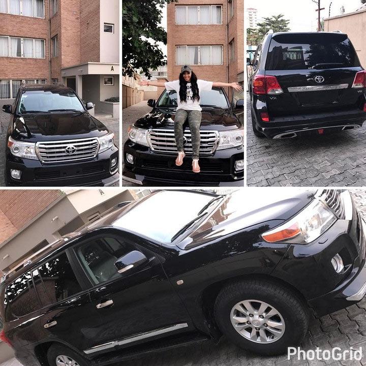 Rosy Meurer, alleged sidechick of Tonto Dikeh's husband, gets a Toyota Landcruiser