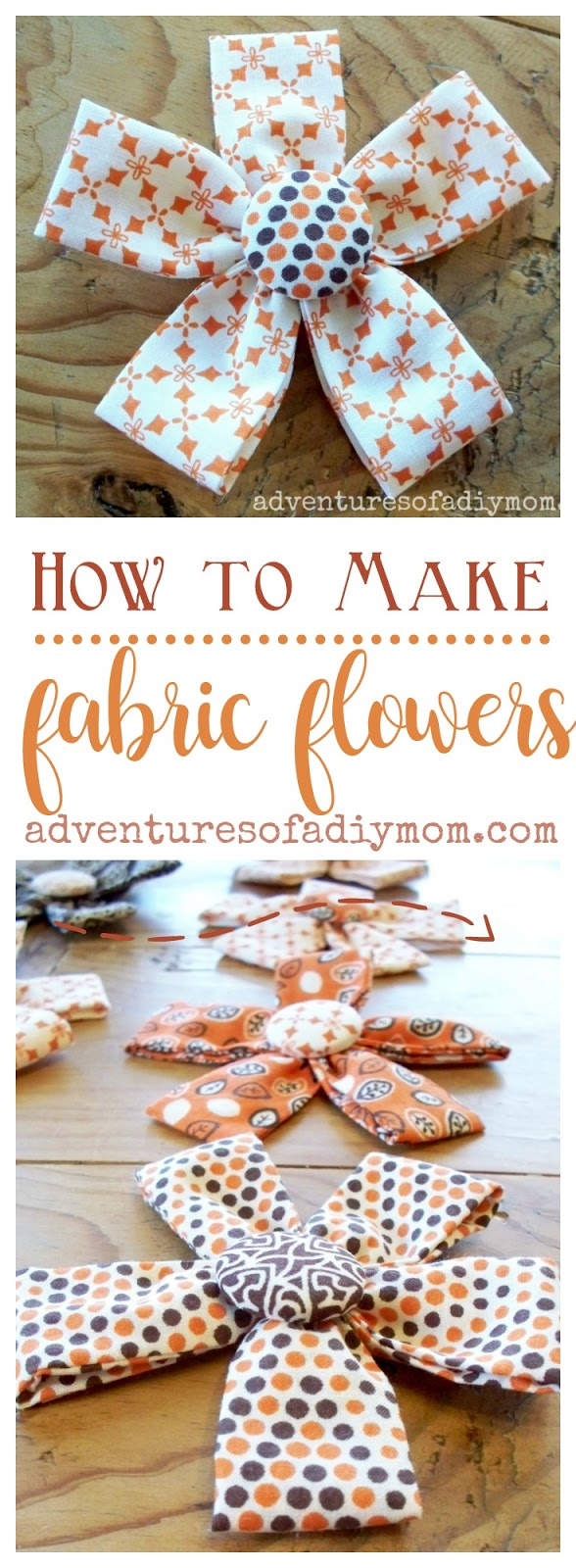 how to make dabric fliwers