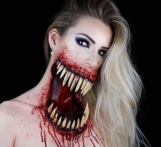 scary halloween makeup tutorials 2017. Black Bedroom Furniture Sets. Home Design Ideas