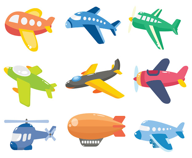 Free Cartoon Airplane Vector Thumb