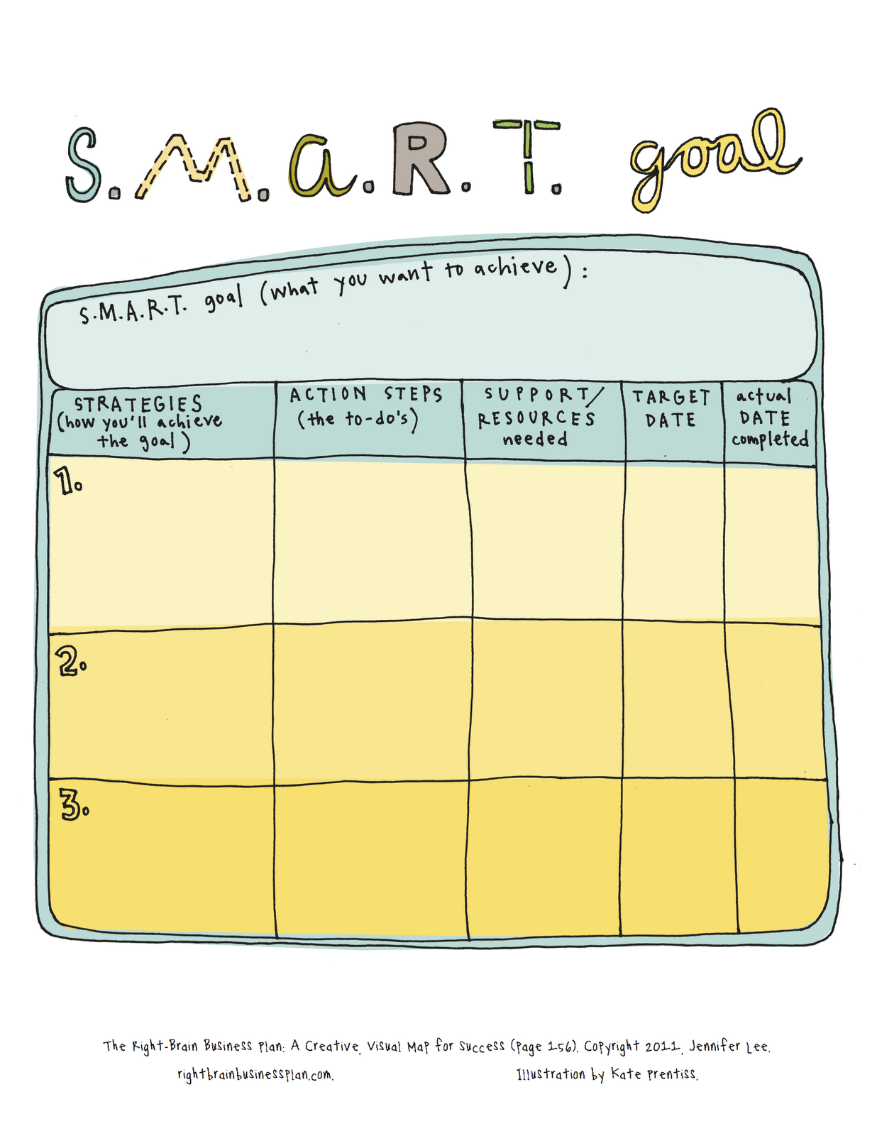 2016 goal setting template calendar template 2016. smart goals ...