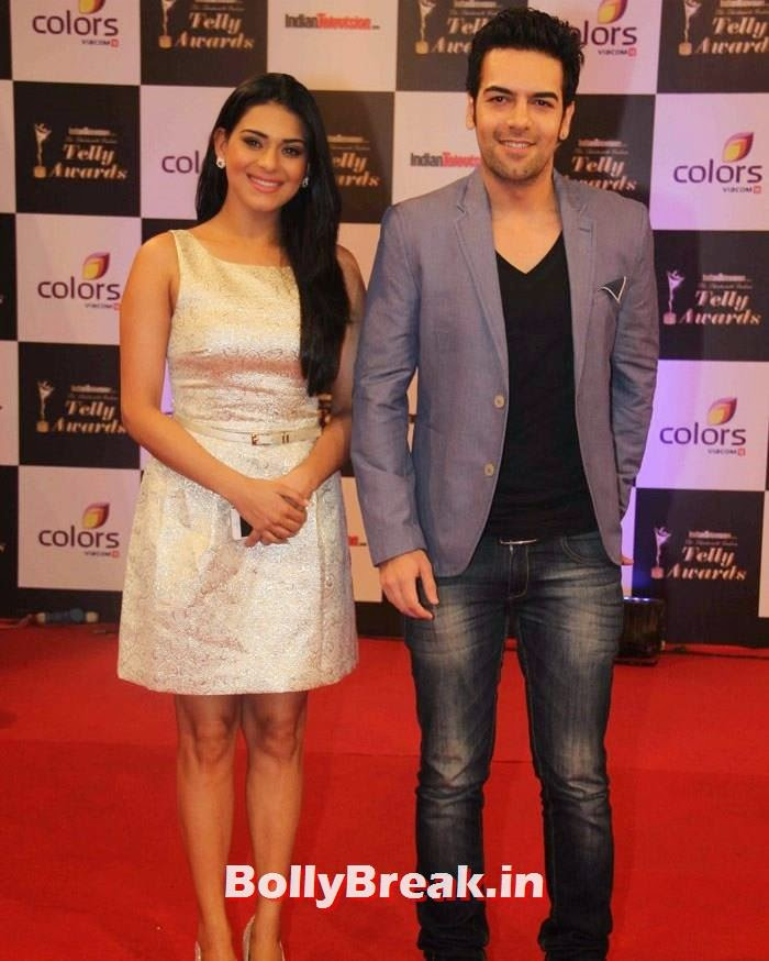 Poonam Preet, Sanjay Gagnani, Pics on Red Carpet of 13th Indian Telly Awards 2014