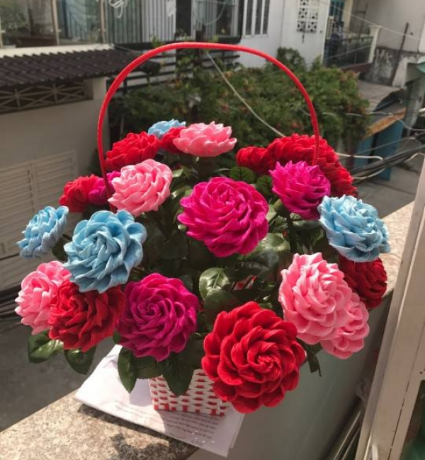 Gio hoa lam bang giay nhun