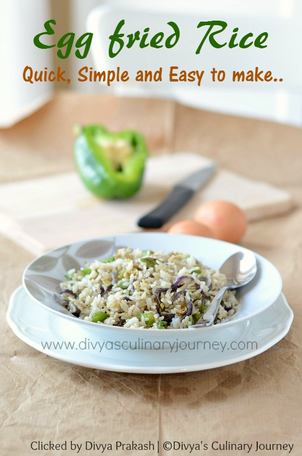 easy egg fried rice recipe, simple egg fried rice
