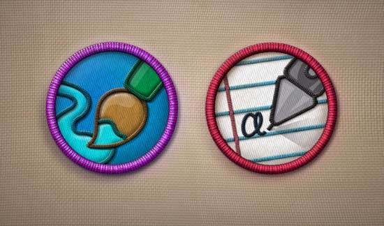 Merit Badges PSD