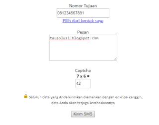 Tutorial Kirim SMS Gratis Tanpa Pulsa ke Semua Operator 6