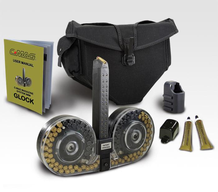cc449ae0a54 Γεμιστήρας C-Mag χωρητικότητας 100 φυσιγγίων για πιστόλι Glock των 9  χιλιοστών!