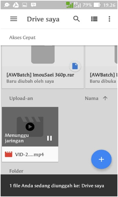 Proses Upload Google Drive