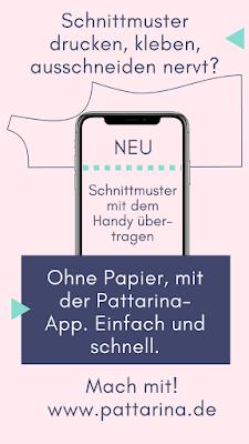 Pattarina - Schnittmuster werden einfach mit dem Handy übertragen, ohne Papier.