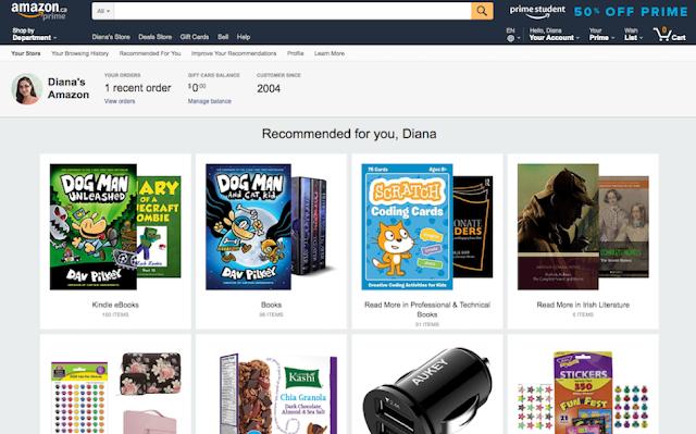 Diana's Amazon.ca Prime