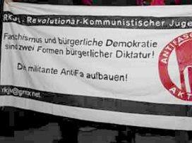 Antifa banner, Vienna