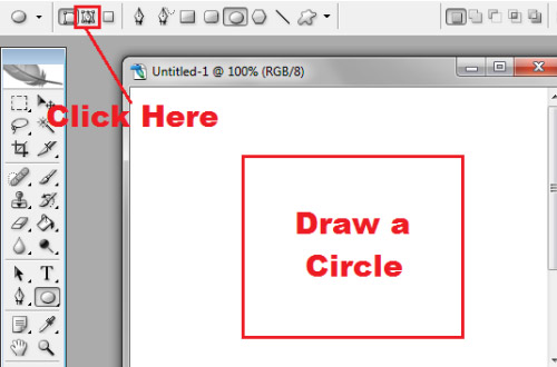 how to write text in circle in photoshop